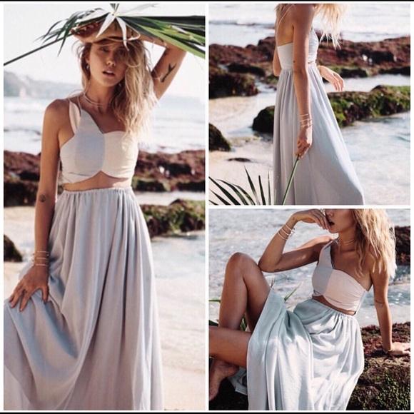 b5fda76afb Sabo Skirt Dresses | Pink And Blue Cut Out Maxi Dress | Poshmark